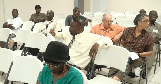 Members of the BLA at the meeting in Kingstown on Thursday.