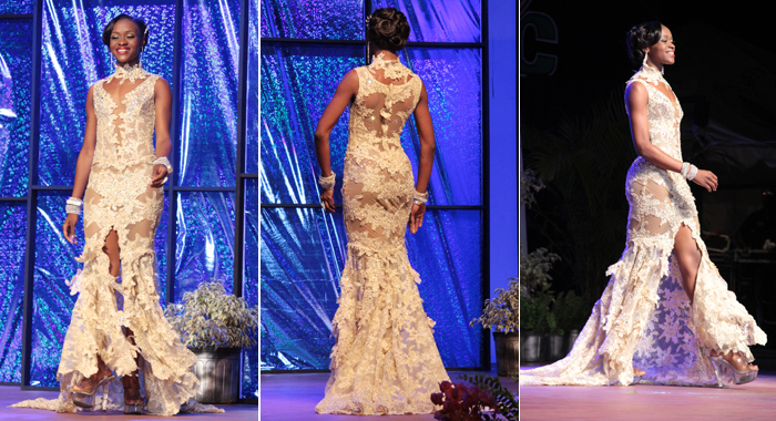 Best Evening Wear: Miss Antigua and Barbuda Raynel Carroll. (Photo: IWN/Zavique Morris)