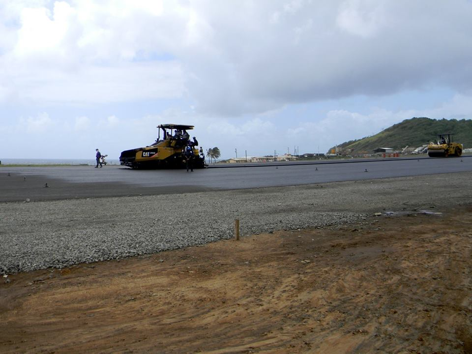 Final pavement on the runway continues, according to this photo uploaded to the Friends of AIA Facebook page on June 30.